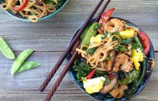 Shrimp Teriyaki Udon Stir-Fry Recipe