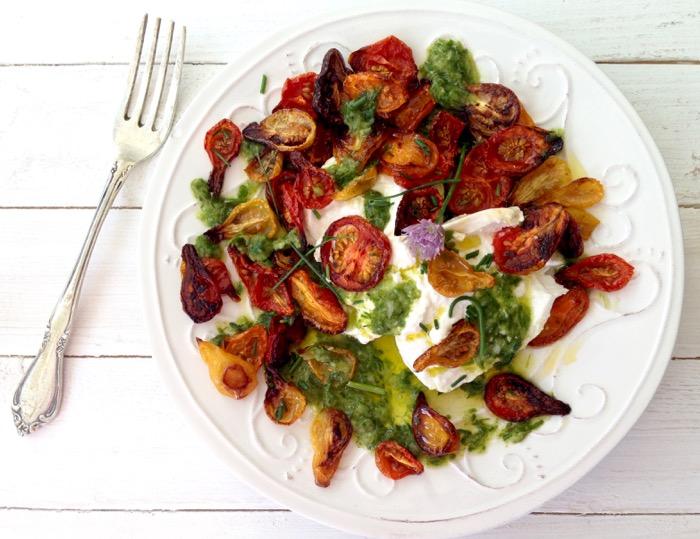 Burrata Roasted Tomato Salad Recipe