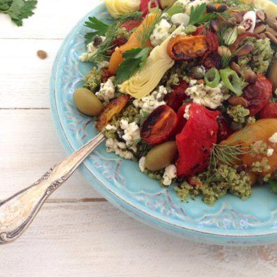 Pesto Quinoa Salad Recipe