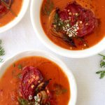 2 Bowls of Roasted Tomato Soup