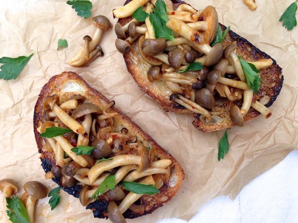 Mushroom Bruschetta Appetizer