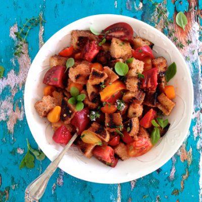 Tomato Bread Salad Recipe ( Panzanella )