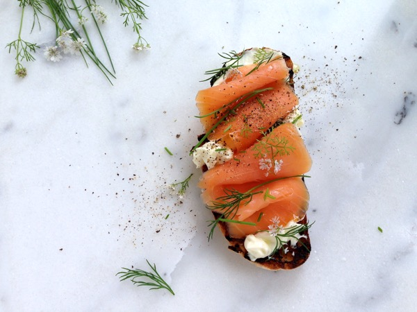 Smoked salmon crostini recipe