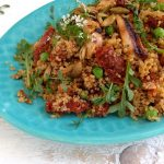 Healthy Quinoa Salad & Sun Dried Tomato Pesto Recipe