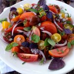 Tomato and Basil Salad with Chive Vinaigrette Recipe