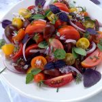 Tomato and Basil Salad with Chive Vinaigrette Recipe