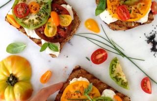 Tomatoes and Mozzarella Bruschetta Bar