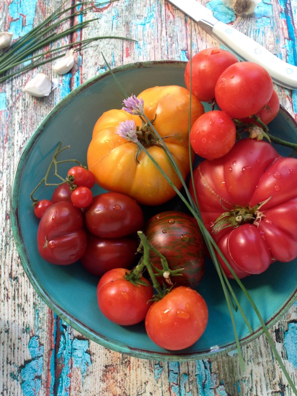 Fresh Heirloom Tomatoes for Puttanesca Salad