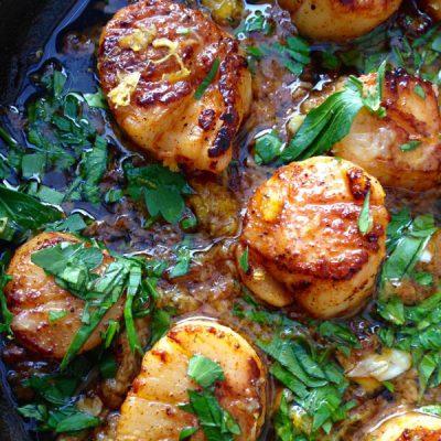 Garlic Scallops Recipe