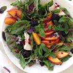 Peach Basil Salad Recipe with Blackberry Vinaigrette
