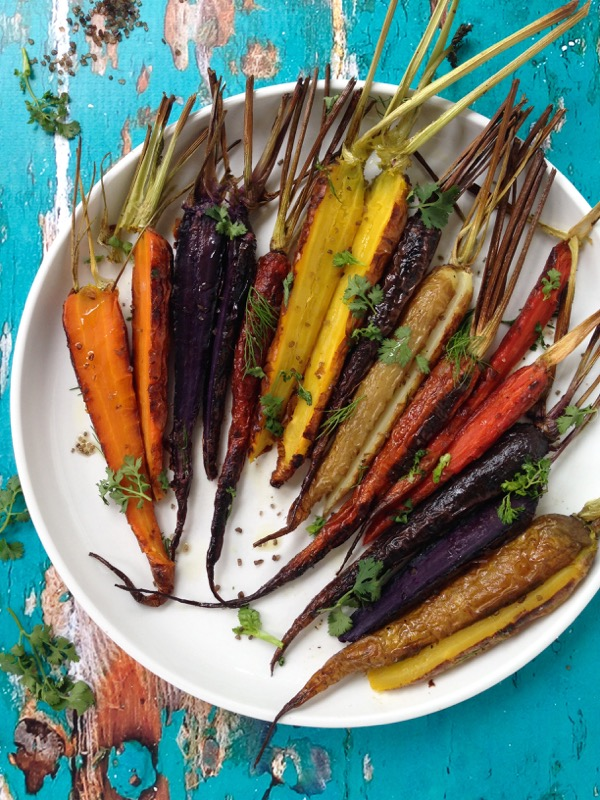 Heirloom Roasted Carrots Recipe with Sea Salt and Herbs