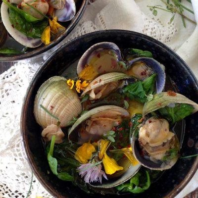 Spinach Clam Soup Recipe ( Healthy )