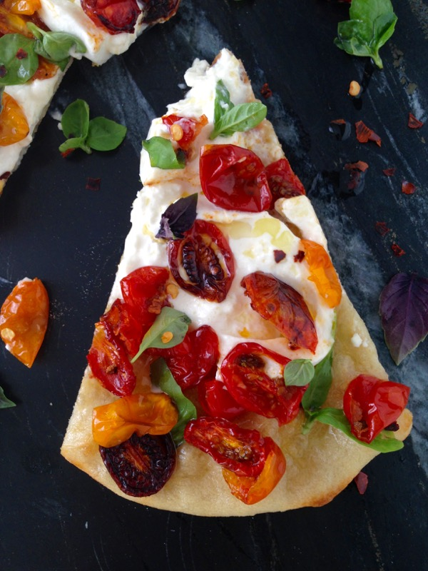 How to Make Burrata Pizza with Oven Roasted Tomatoes