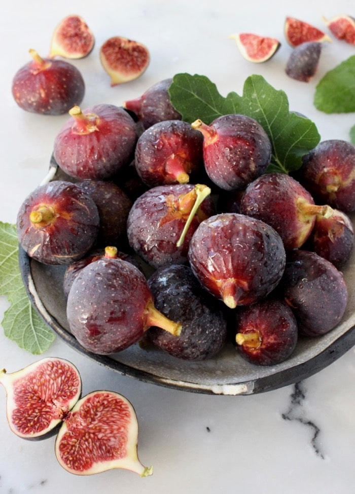 Honey balsamic roasted figs with vanilla and lemon.