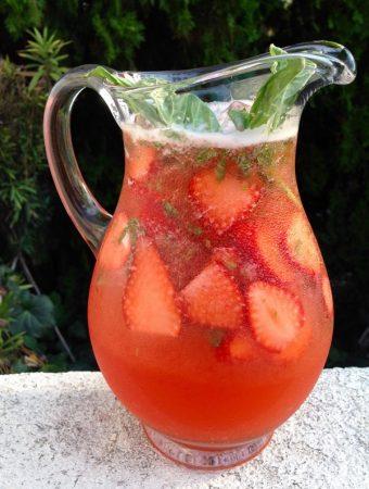 Strawberry Basil Lemonade Recipe + Video