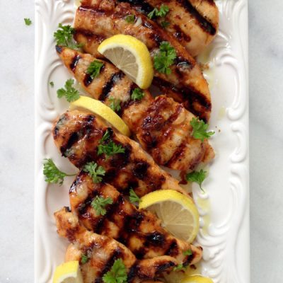 Lemon Garlic Chicken Breast Tenders Recipe