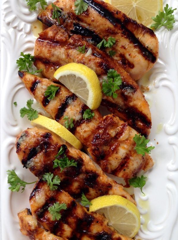 Recipe for grilled chicken breast tenderloins