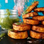 Roasted Sweet Potato Rounds with Chimichurri Sauce Recipe