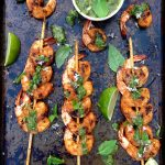 Basil Chimichurri Grilled Shrimp Recipe