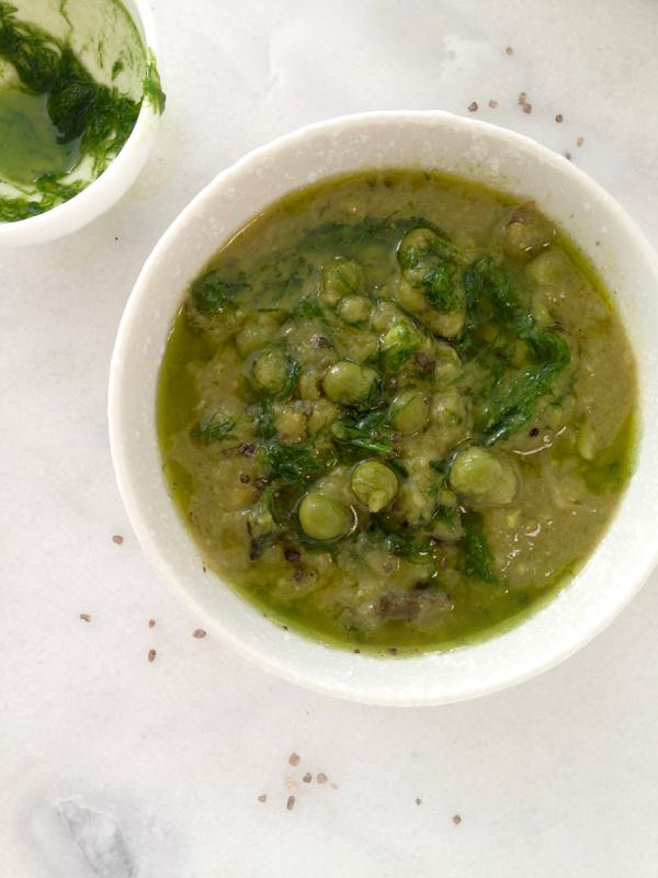 Healthy Leek Soup with Chive Oil & Green Peas - Ciao ...