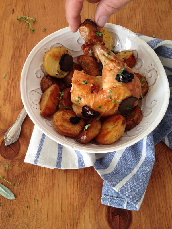 Truffle Chicken Recipe & Sage Potatoes