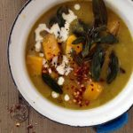 Butternut Squash Leek Soup Recipe with Crispy Sage