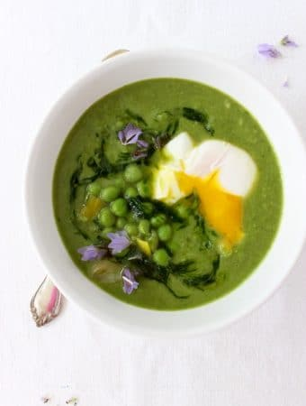 Healthy Green Pea Soup Recipe with Leeks