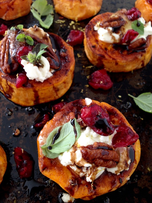 Sweet Potato Rounds - Vegetarian Thanksgiving Menu