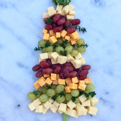 Christmas Tree Cheese Platter Recipe