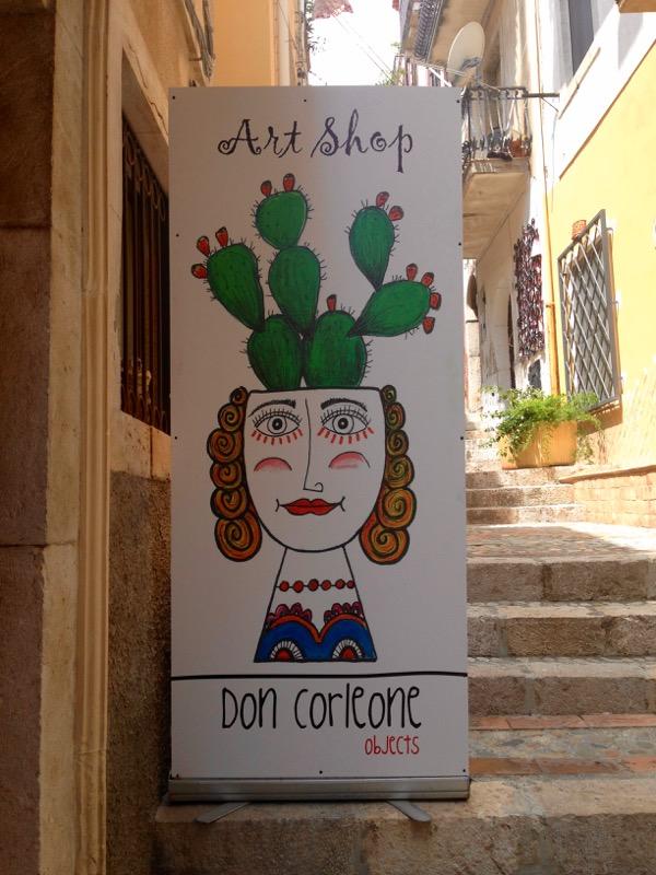Don Corleone Art Shop in Taormina Sicily