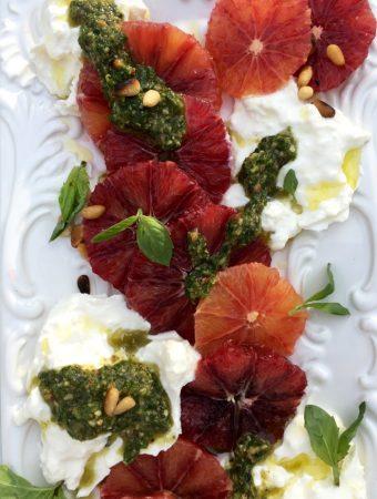 Blood Orange Salad Recipe with Burrata & Pesto