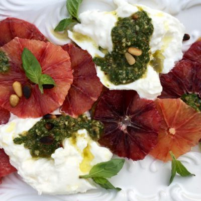 Blood Orange Salad Recipe with Burrata & Pesto