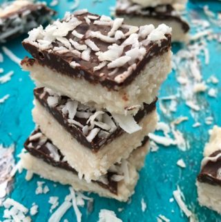 Chocolate Covered Coconut Bars