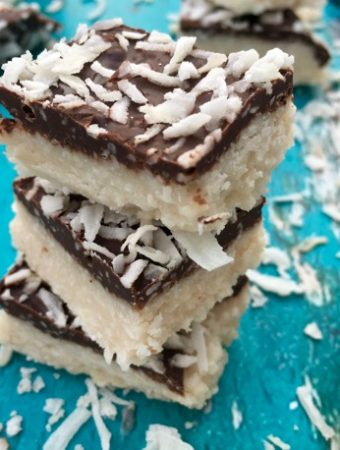 Chocolate Covered Coconut Bars Recipe ( Easy )
