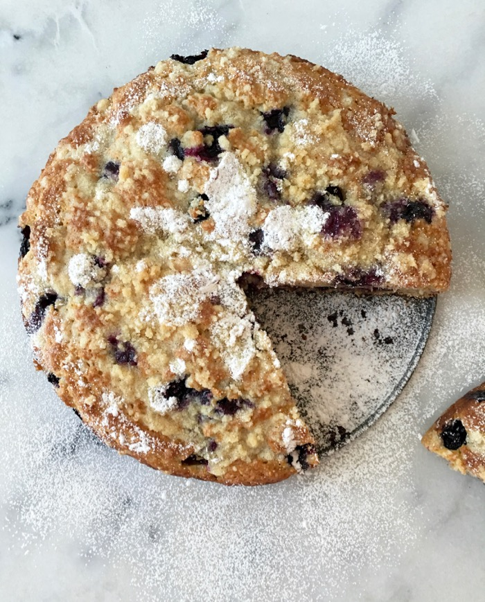 Blueberry Muffin Cake Recipe with Ricotta & Olive Oil