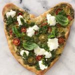 Easy Pesto Sauce Pizza Recipe ( heart shaped pizza )