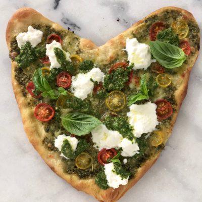 Easy Pesto Sauce Pizza Recipe ( Heart Shaped Pizza )