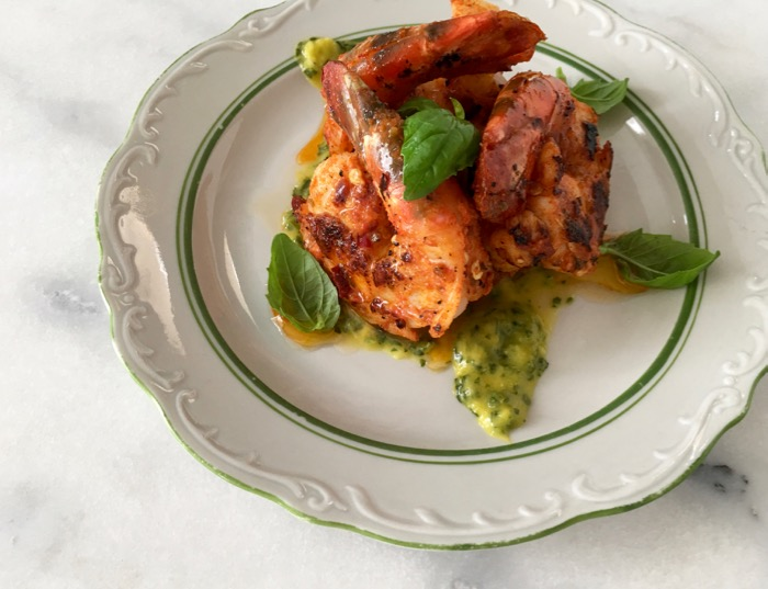 Jumbo Prawns Recipe with Mango Chimichurri