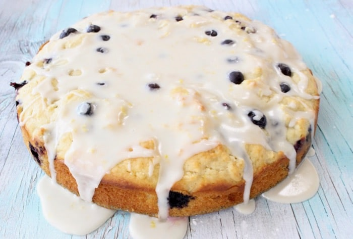 Blueberry Muffin Cake with Lemon Glaze