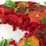 Orange Olive Oil Cake with Red Beet and Ricotta