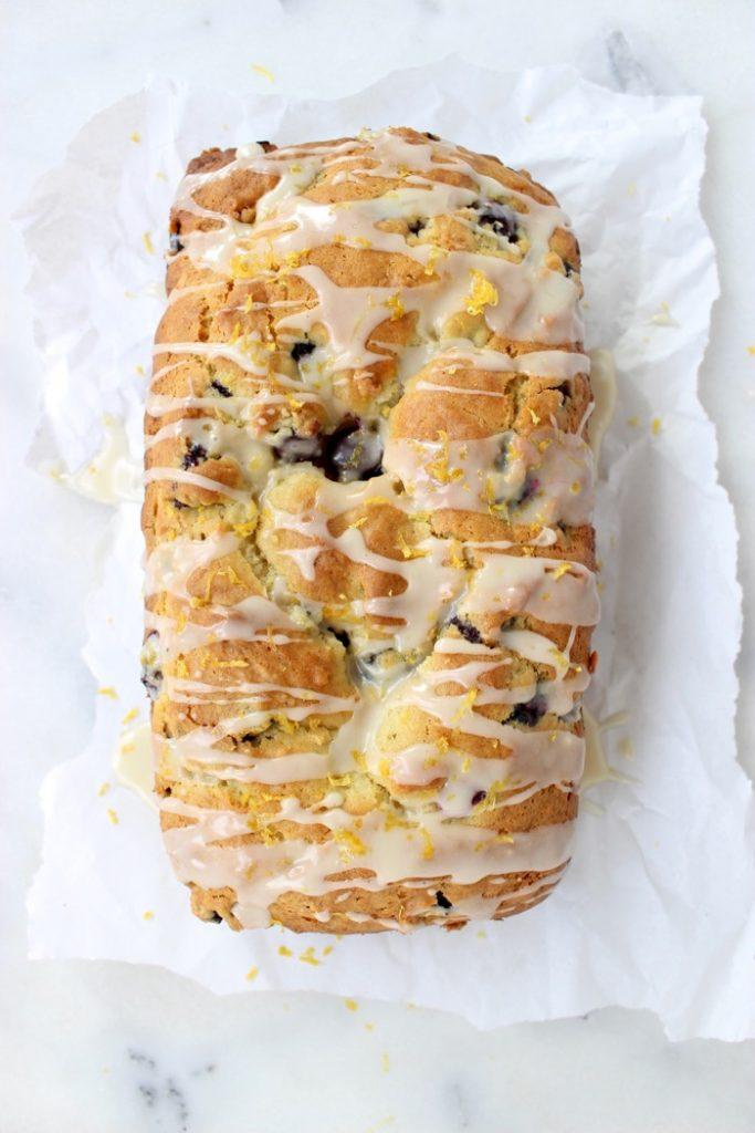 Lemon Glazed Blueberry Lemon Bread