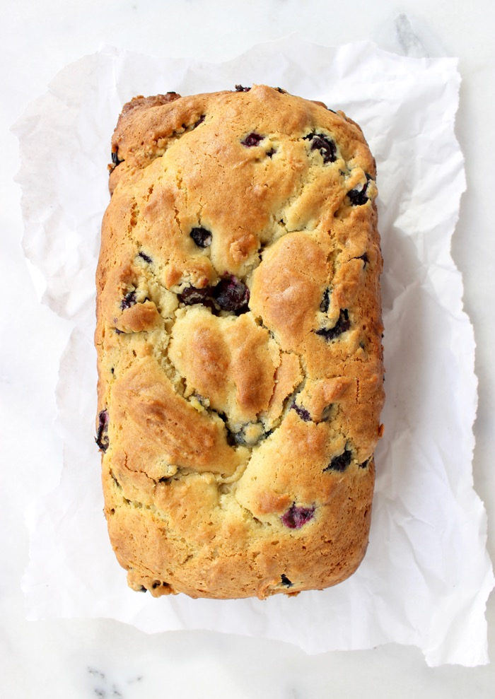 Italian Lemon Blueberry Bread Loaf