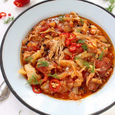 Braised Cabbage Recipe with Chicken Thighs