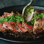 Chimichurri Steak in a Cast Iron Skillet