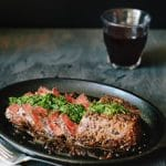 Chimichurri Steak Recipe with Peppercorn Crust