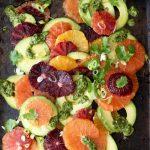 Orange Avocado Salad Recipe with Lime Dressing