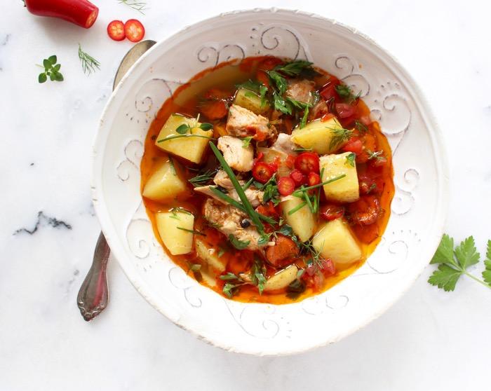 Rustic Chicken Potato Soup Recipe