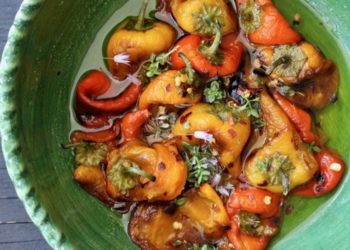 Italian Roasted Pepper Salad in Italian Dressing