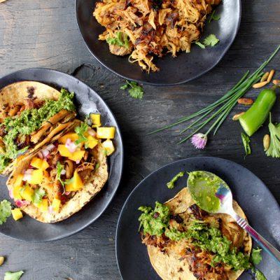 Tacos de Carnitas with Chive Pesto ( Carnitas Tacos Recipe )