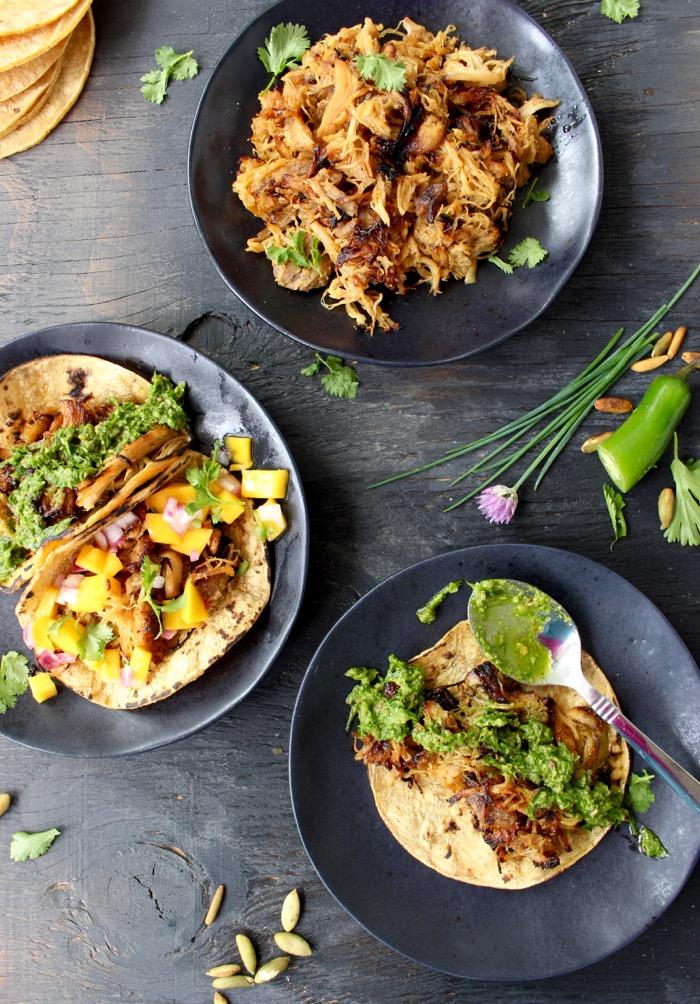 Tacos de Carnitas with Chive Pesto ( Carnitas Tacos Recipe ...